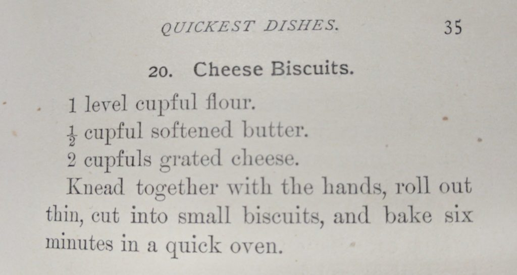 Cheese Biscuits, recipe