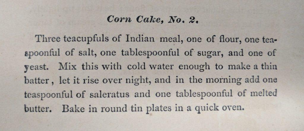 Corn Cake No 2, recipe