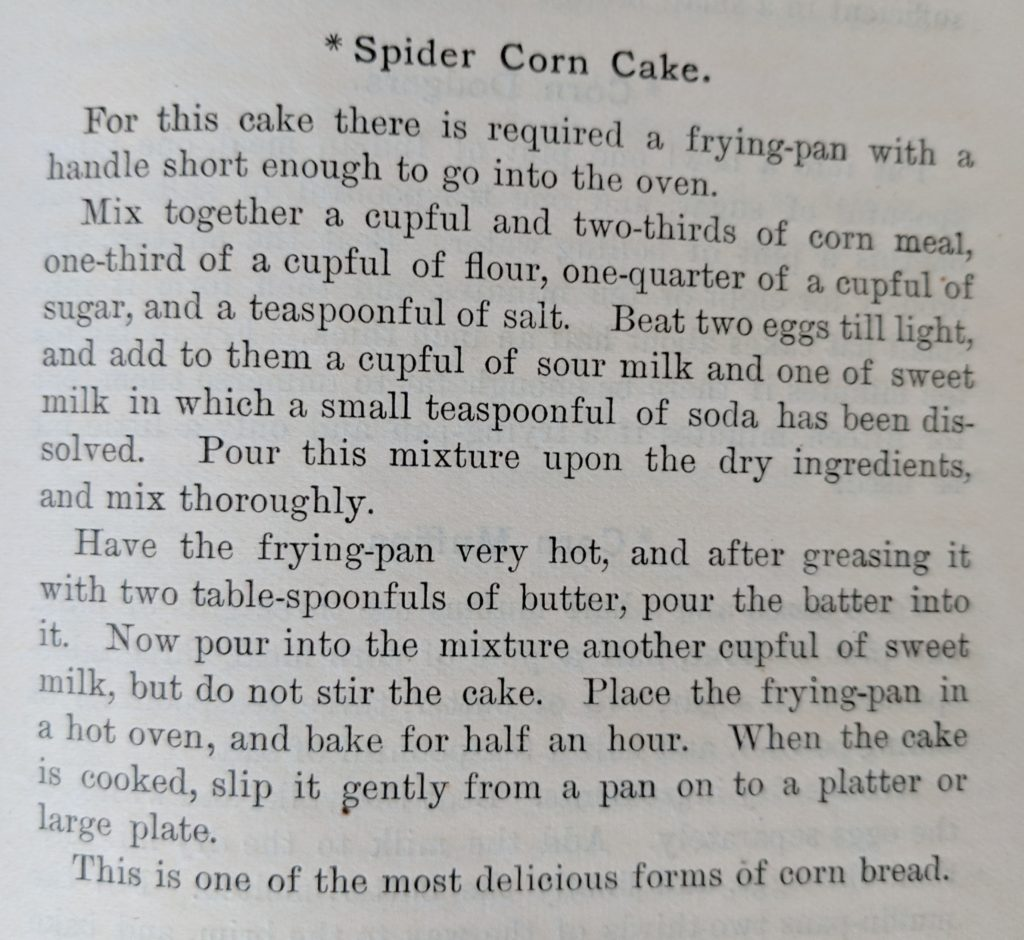 Spider Corn Cake Recipe