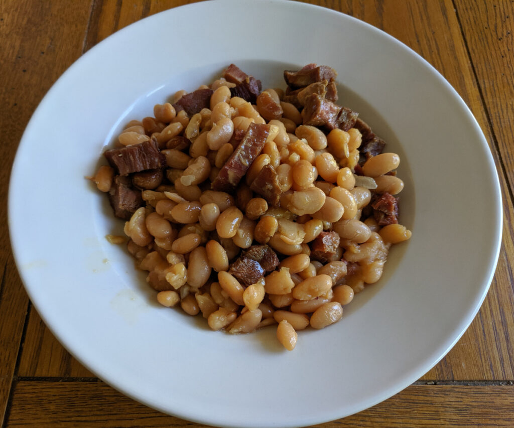 Boston Baked Beans in a bowl.