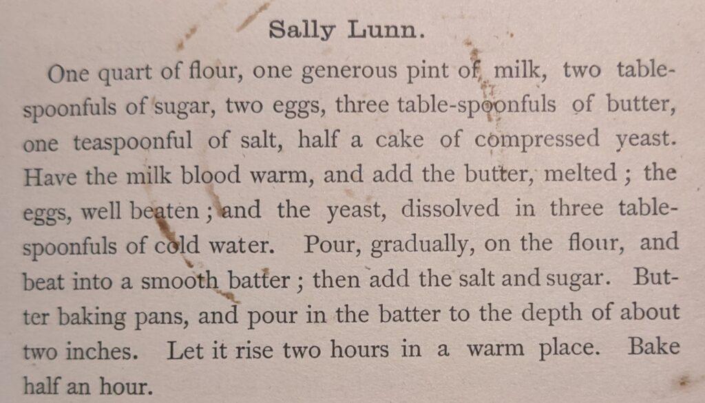 Sally Lunn recipe