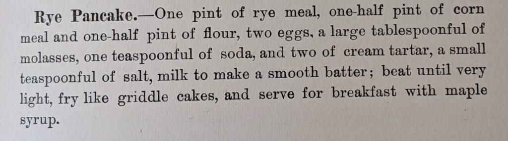 Rye Pancake recipe
